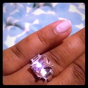 Jewelry - ❤Must Bundle!❤ Pink & White Square CZ Ring